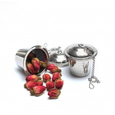 4.5 Stainless Steel Etch Hole Tea Strainer With Chain