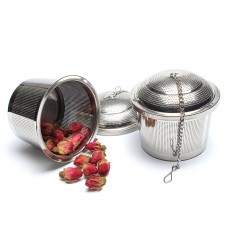 7.5 Stainless Steel Etch Hole Tea Strainer With Chain