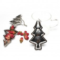 Stainless Steel Christmas Tree Tea Infuser With Chain