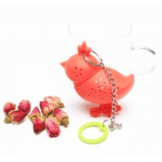 Silicone Chick Shape Tea Infuser With Chain